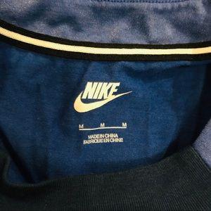 Nike Tops - Nike High-Neck Blue Shimmer Tank Top